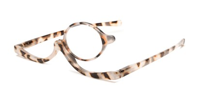 Angle of The Kellyn Makeup Reader in Tan Tortoise, Women's Round Reading Glasses