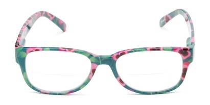 Front of The Kenzie Bifocal in Green/Red Floral