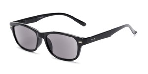 Angle of The Key West Reading Sunglasses in Black with Smoke, Women's and Men's Retro Square Reading Sunglasses