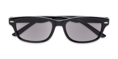 Folded of The Key West Reading Sunglasses in Black with Smoke