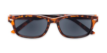 Folded of The Key West Reading Sunglasses in Tortoise with Smoke