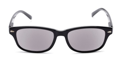 Front of The Key West Reading Sunglasses in Black with Smoke