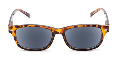 Front of The Key West Reading Sunglasses in Tortoise with Smoke