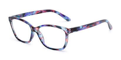 Angle of The Kiki in Blue, Women's Cat Eye Reading Glasses