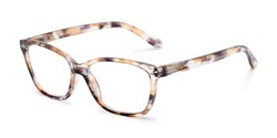 Angle of The Kiki in Brown, Women's Cat Eye Reading Glasses