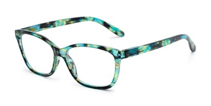 Angle of The Kiki in Green, Women's Cat Eye Reading Glasses