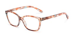 Angle of The Kiki in Orange, Women's Cat Eye Reading Glasses