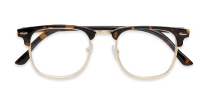 Hipster half frame mixed material readers