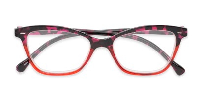 Folded of The Kit in Pink Tortoise/Red