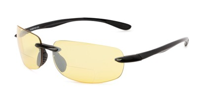 Angle of The Kobe Bifocal Night Driving Reader in Black, Women's and Men's Sport & Wrap-Around Reading Glasses