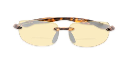 Folded of The Kobe Bifocal Night Driving Reader in Tortoise