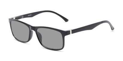 Front of The Lambert Photochromic Reader in Black with Smoke