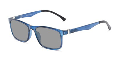 Front of The Lambert Photochromic Reader in Blue with Smoke