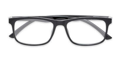 Folded of The Lambert Photochromic Reader in Black with Smoke