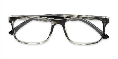 Folded of The Lambert Photochromic Reader in Black Tortoise with Smoke