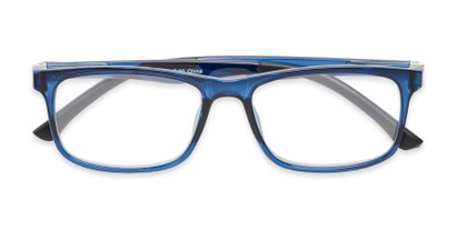 Folded of The Lambert Photochromic Reader in Blue with Smoke