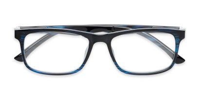 Folded of The Lambert Photochromic Reader in Blue Stripe with Smoke