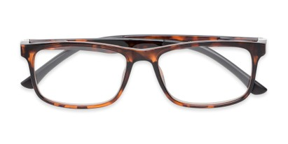 Folded of The Lambert Photochromic Reader in Brown Tortoise with Amber