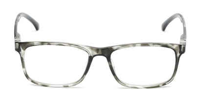 Front of The Lambert Photochromic Reader in Black Tortoise with Smoke