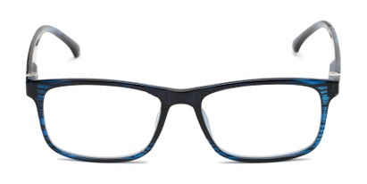 Front of The Lambert Photochromic Reader in Blue Stripe with Smoke