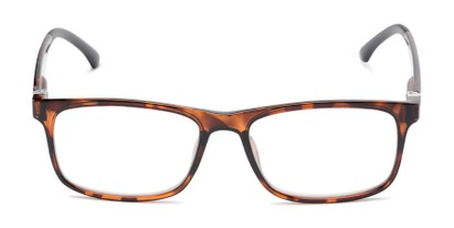 Front of The Lambert Photochromic Reader in Brown Tortoise with Amber