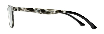 Side of The Lambert Photochromic Reader in Black Tortoise with Smoke