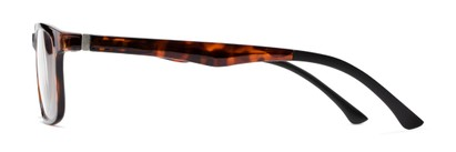 Side of The Lambert Photochromic Reader in Brown Tortoise with Amber