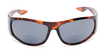 Front of The Lance Bifocal Reading Sunglasses in Tortoise with Smoke