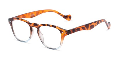 Angle of The Landis in Tortoise/Blue, Women's and Men's Square Reading Glasses