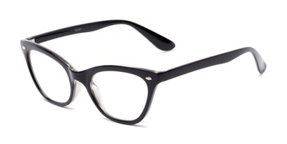 Angle of The Laura in Black, Women's Cat Eye Reading Glasses