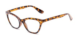 Angle of The Laura in Brown Tortoise, Women's Cat Eye Reading Glasses