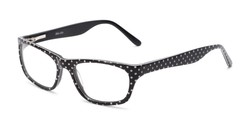 Angle of Laurel by felix + iris in Black Dot, Women's Rectangle Reading Glasses
