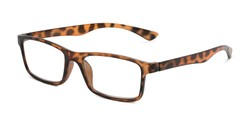 Angle of The Leaf in Brown Tortoise, Women's and Men's Rectangle Reading Glasses