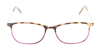 Front of The Leah in Tortoise/Purple