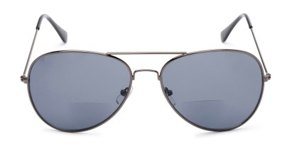 Front of The Legacy Bifocal Reading Sunglasses in Grey with Smoke