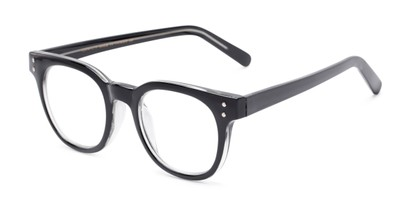Angle of The Lemon in Black, Women's and Men's Round Reading Glasses