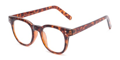 Angle of The Lemon in Tortoise, Women's and Men's Round Reading Glasses