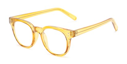 Angle of The Lemon in Yellow, Women's and Men's Round Reading Glasses