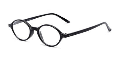 Angle of The Lennon in Black, Women's and Men's Round Reading Glasses