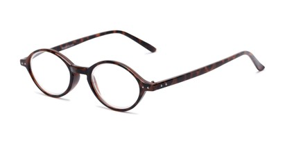 Angle of The Lennon in Tortoise, Women's and Men's Round Reading Glasses