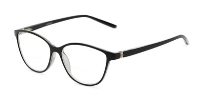 Angle of The Lenora Bifocal in Black, Women's Cat Eye Reading Glasses