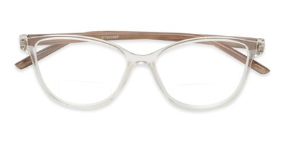 Folded of The Lenora Bifocal in Clear/Tortoise