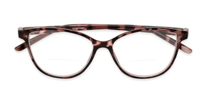 Folded of The Lenora Bifocal in Pink Tortoise