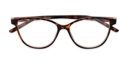 Folded of The Lenora Bifocal in Brown Tortoise