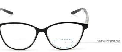 Detail of The Lenora Bifocal in Black