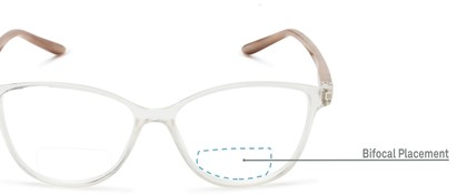Detail of The Lenora Bifocal in Clear/Tortoise