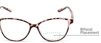 Detail of The Lenora Bifocal in Pink Tortoise