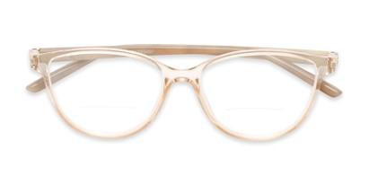 Folded of The Lenora Bifocal in Clear Brown/Tortoise