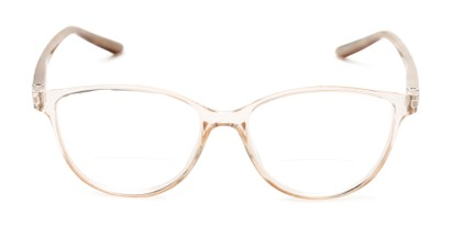 Front of The Lenora Bifocal in Clear Brown/Tortoise