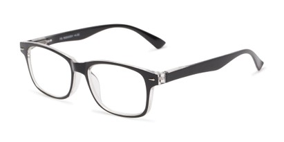 Angle of The Leopold in Black, Women's and Men's Retro Square Reading Glasses